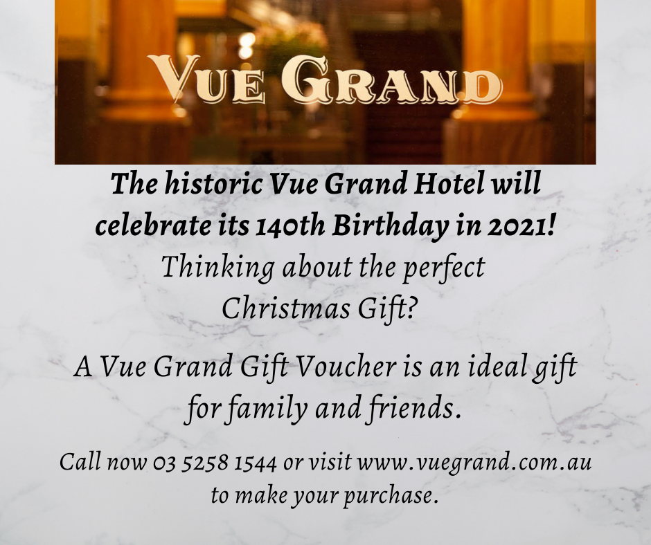 The historic Vue Grand Hotel will celebrate its 140th Birthday in 2021!